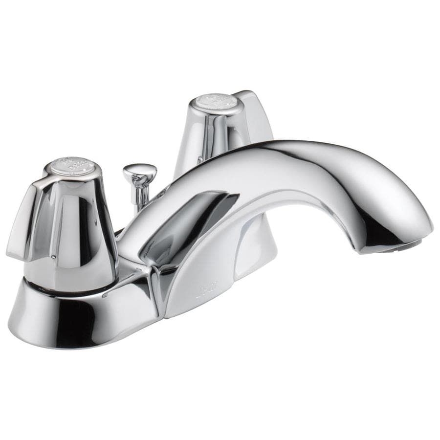 Delta Classic Chrome 2-Handle 4-in Centerset WaterSense Bathroom Faucet (Drain Included)
