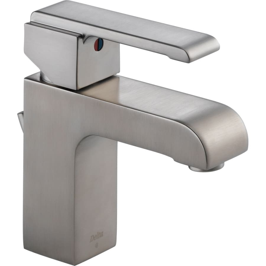 Delta Arzo Stainless 1-Handle Single Hole WaterSense Bathroom Faucet (Drain Included)