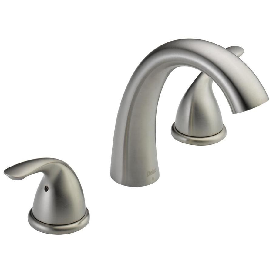 Classic Stainless 2-Handle Adjustable Deck Mount Bathtub Faucet Product Photo