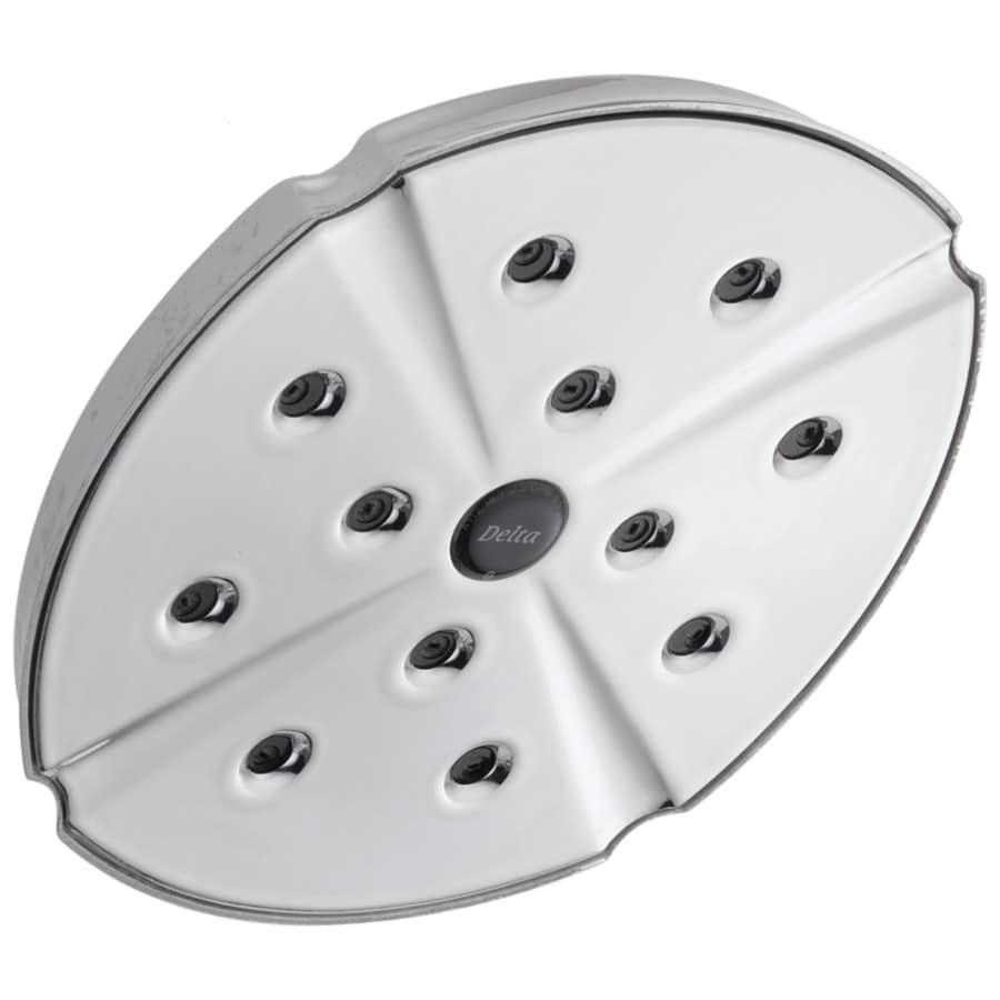 Delta Addison H2Okinetic 6.5-in 2.5-GPM (9.5-LPM) Chrome 1-Spray Rain Showerhead
