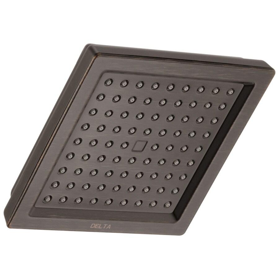 Delta Dryden 6.5-in 2.5-GPM (9.5-LPM) Venetian Bronze Rain Showerhead