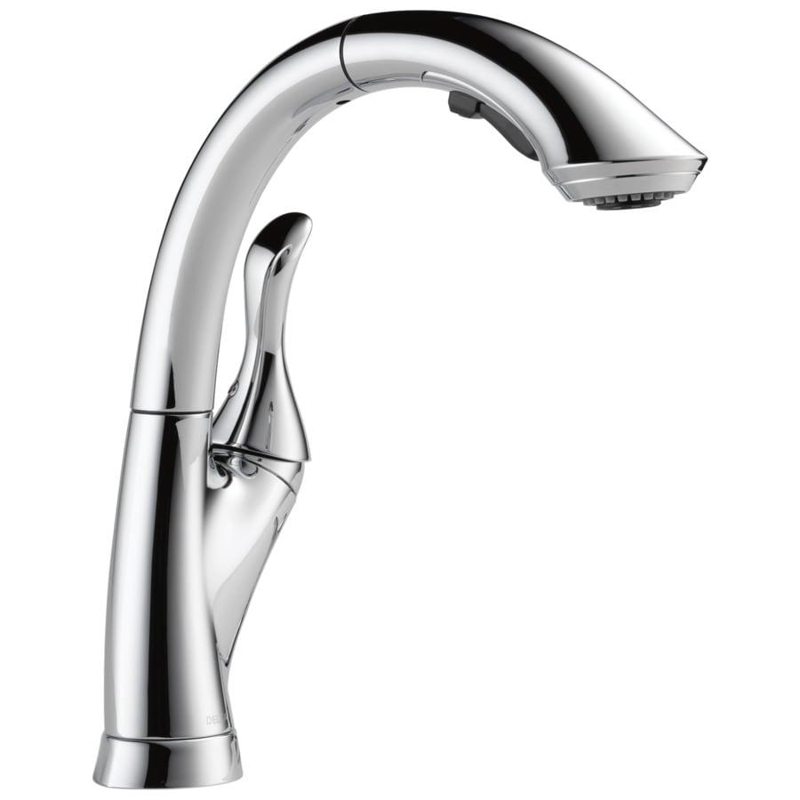 Delta Linden Chrome 1-Handle Pull-Out Kitchen Faucet
