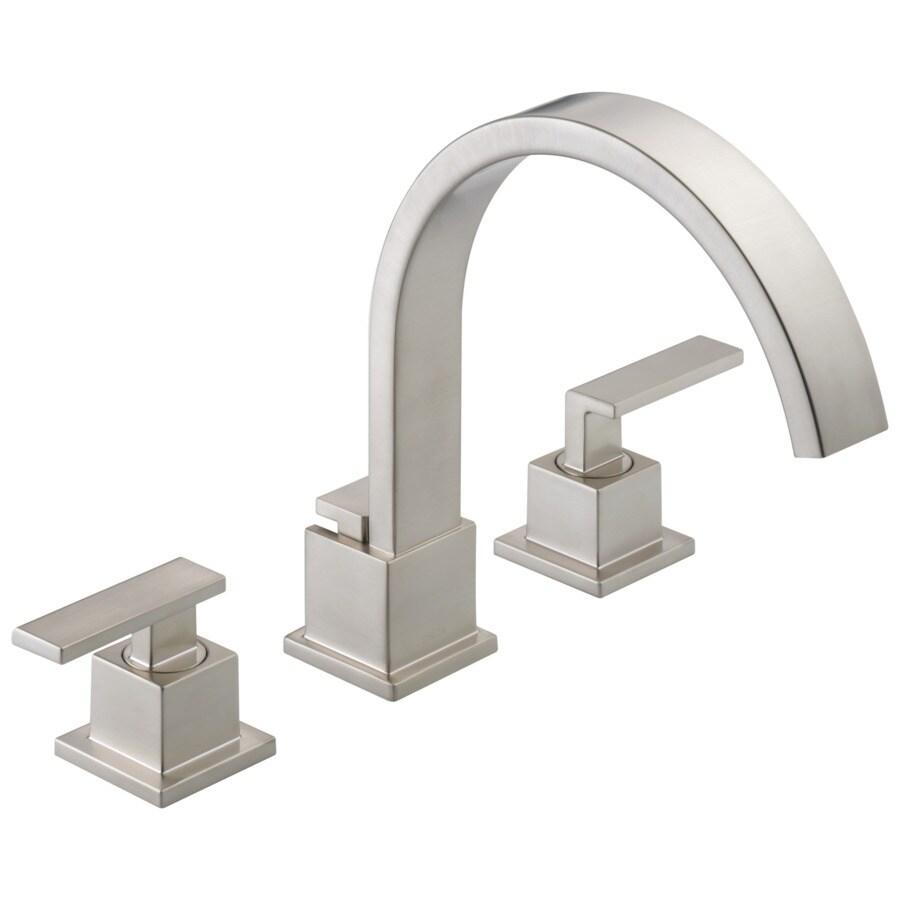 Delta Vero Stainless 2-Handle Adjustable Deck Mount Bathtub Faucet