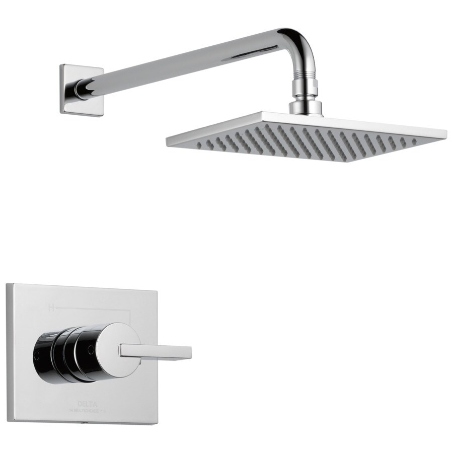 Delta Vero Chrome 1-Handle Shower Faucet Trim Kit with Rain Showerhead