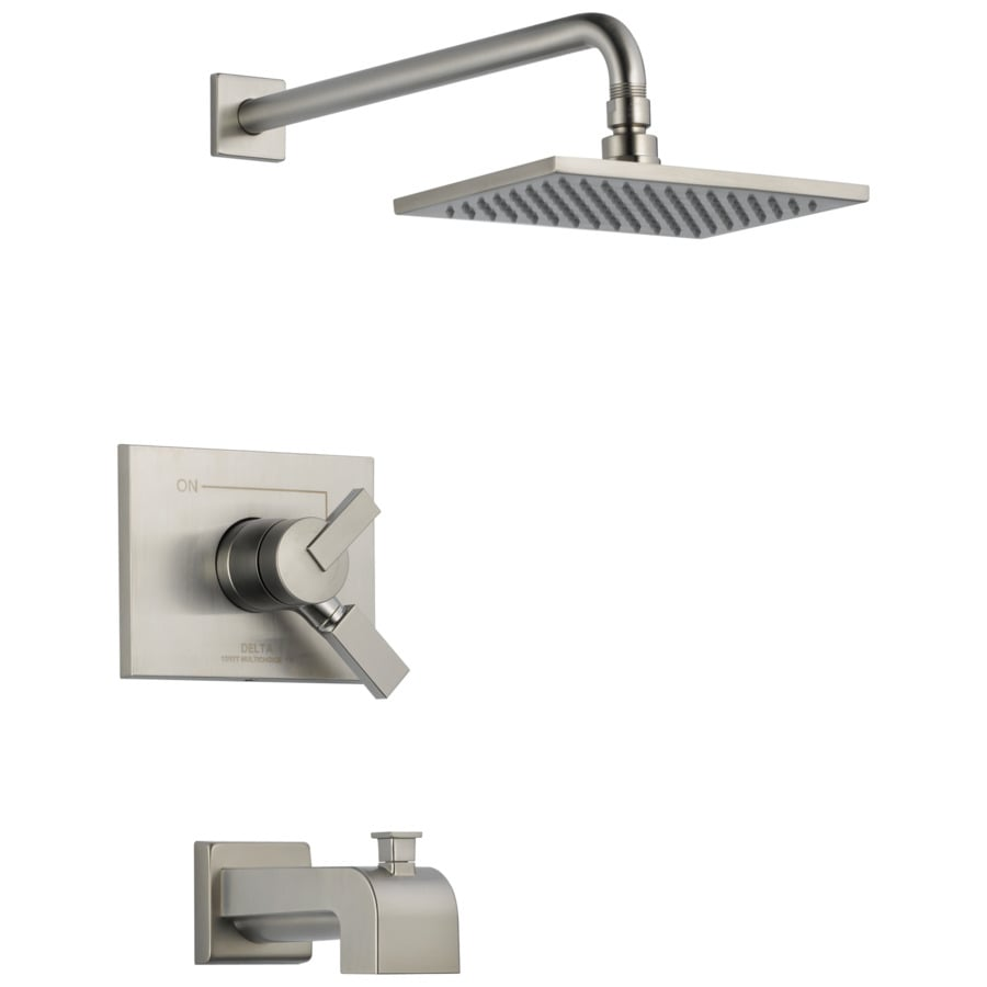 Shop Delta Vero Stainless 1-Handle Bathtub and Shower ...