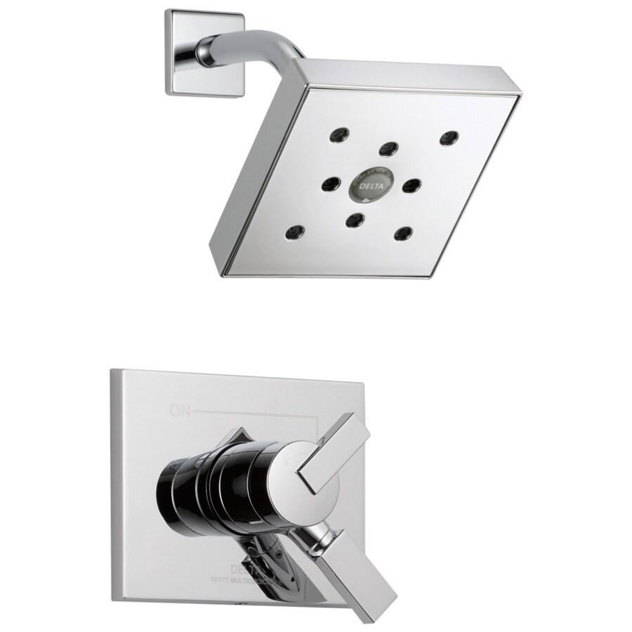 Delta Vero Chrome 1-Handle WaterSense Shower Faucet Trim Kit with Rain Showerhead