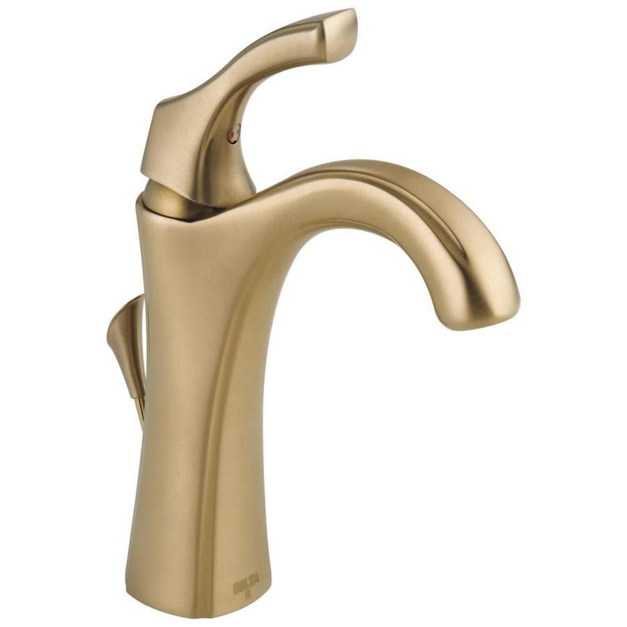 Delta Addison Champagne Bronze 1-Handle 4-in Centerset WaterSense Bathroom Faucet (Drain Included)