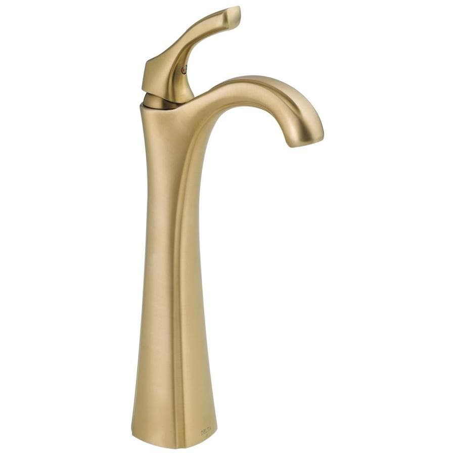 Delta Addison Champagne Bronze 1-Handle Single Hole WaterSense Bathroom Faucet