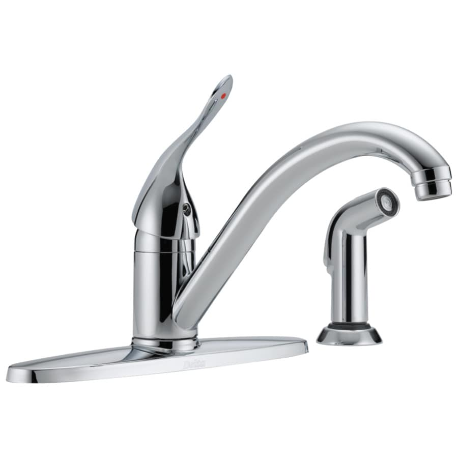 Delta Classic Chrome 1-Handle Low-Arc Kitchen Faucet with Side Spray