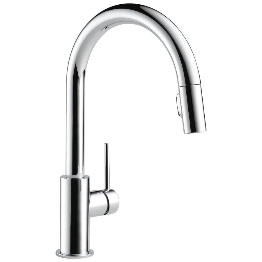 shop delta trinsic chrome 1 handle pull down kitchen