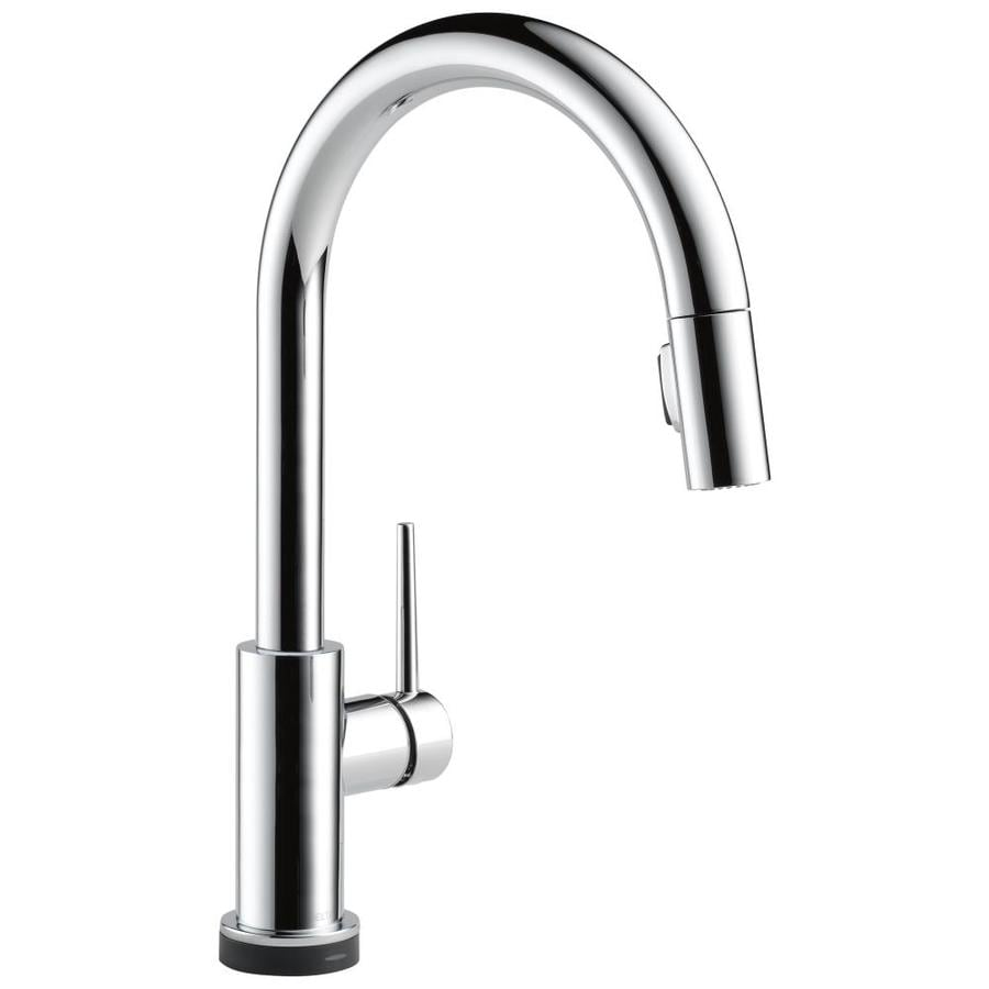 shop delta trinsic touch2o chrome 1 handle pull down sink