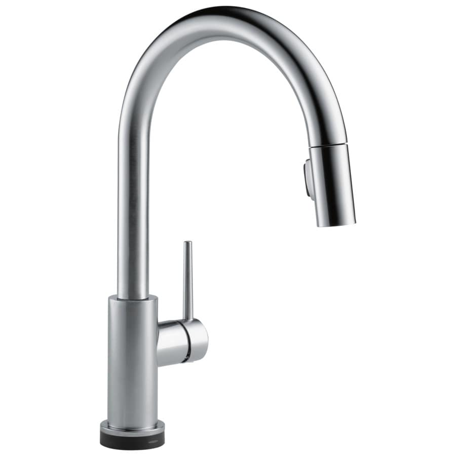 Delta Trinsic Touch2O Arctic Stainless 1-Handle Pull-Down Sink/Counter Mount Touch Kitchen Faucet