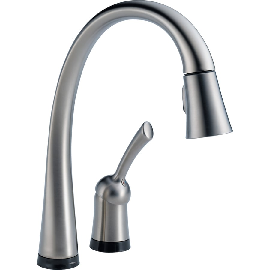 shop delta pilar touch2o arctic stainless 1 handle pull