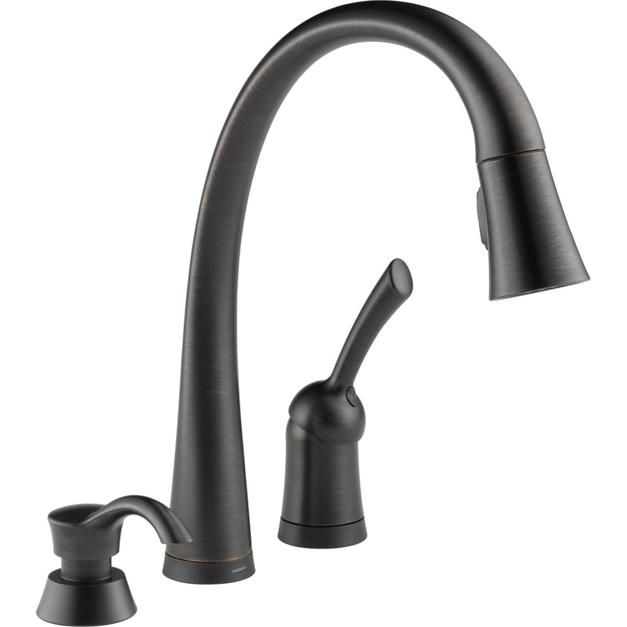 delta pilar touch2o venetian bronze 1 handle pull down touch kitchen touch2o spotshield stainless 1 handle pull down touch kitchen faucet
