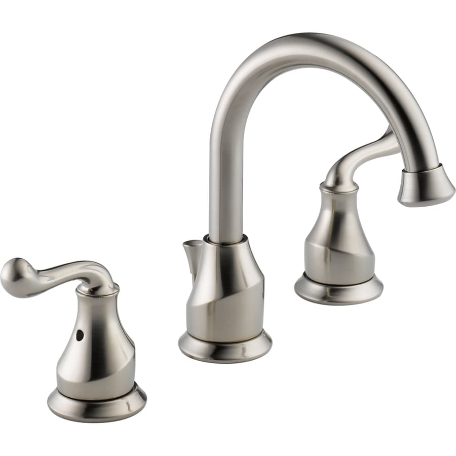 Delta Talbott Stainless 2-Handle Widespread WaterSense Bathroom Faucet (Drain Included)