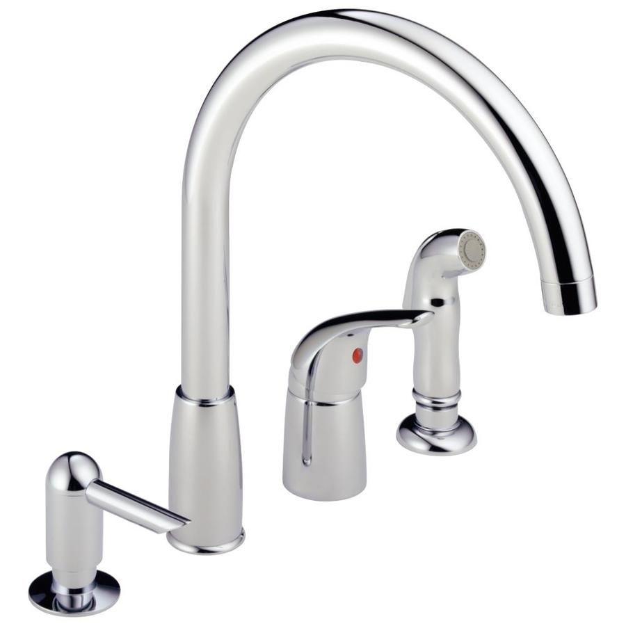 Shop Peerless Chrome 1 Handle High Arc Kitchen Faucet With