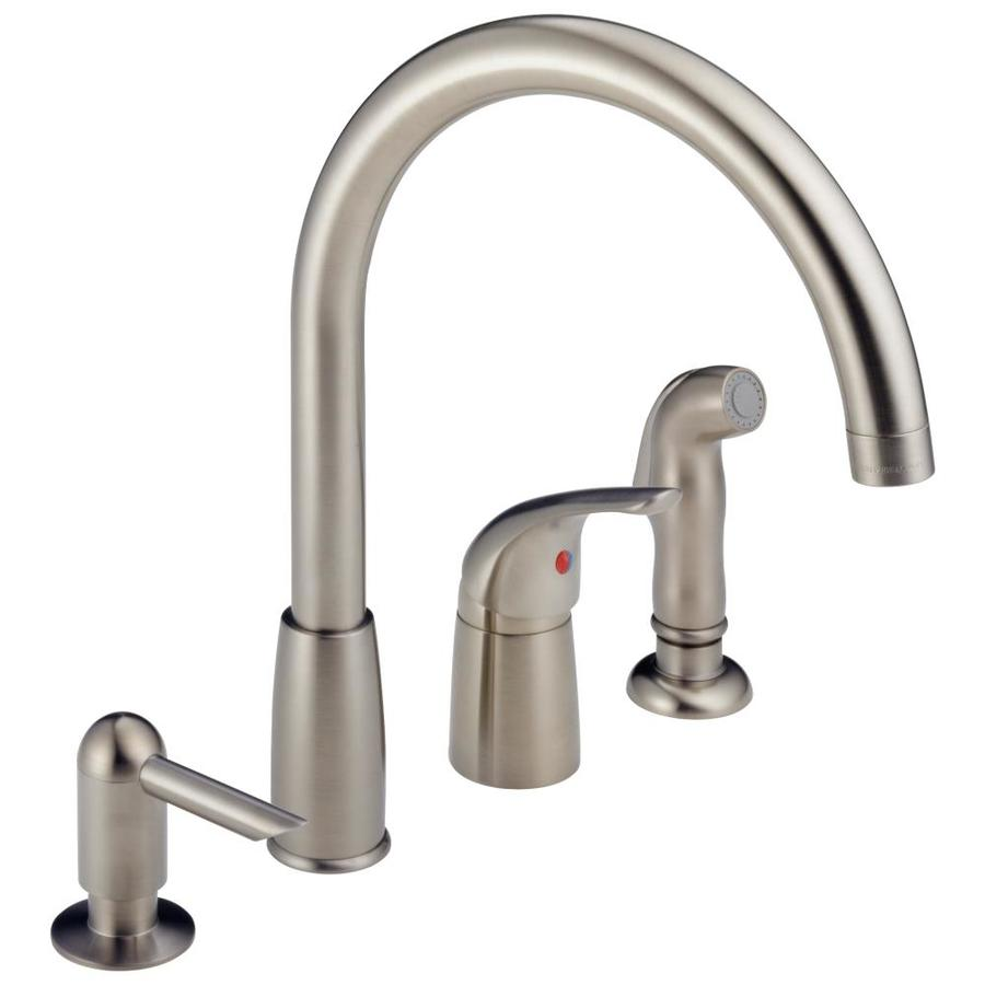 shop peerless stainless 1 handle high arc kitchen faucet