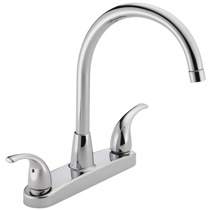 Peerless Chrome 2-Handle High-Arc Kitchen Faucet