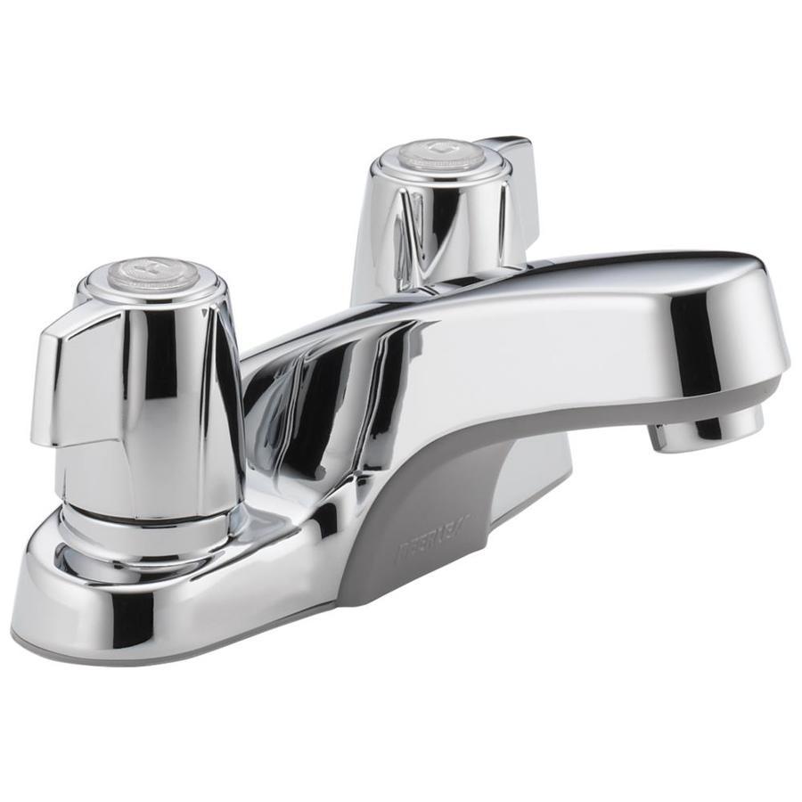 Peerless Chrome 2-Handle 4-in Centerset WaterSense Bathroom Faucet