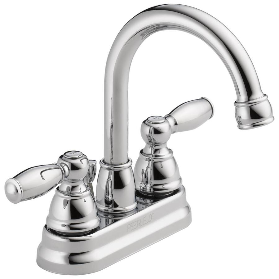 Shop Peerless Apex Chrome 2 Handle 4 In Centerset Watersense Bathroom Faucet Drain Included At