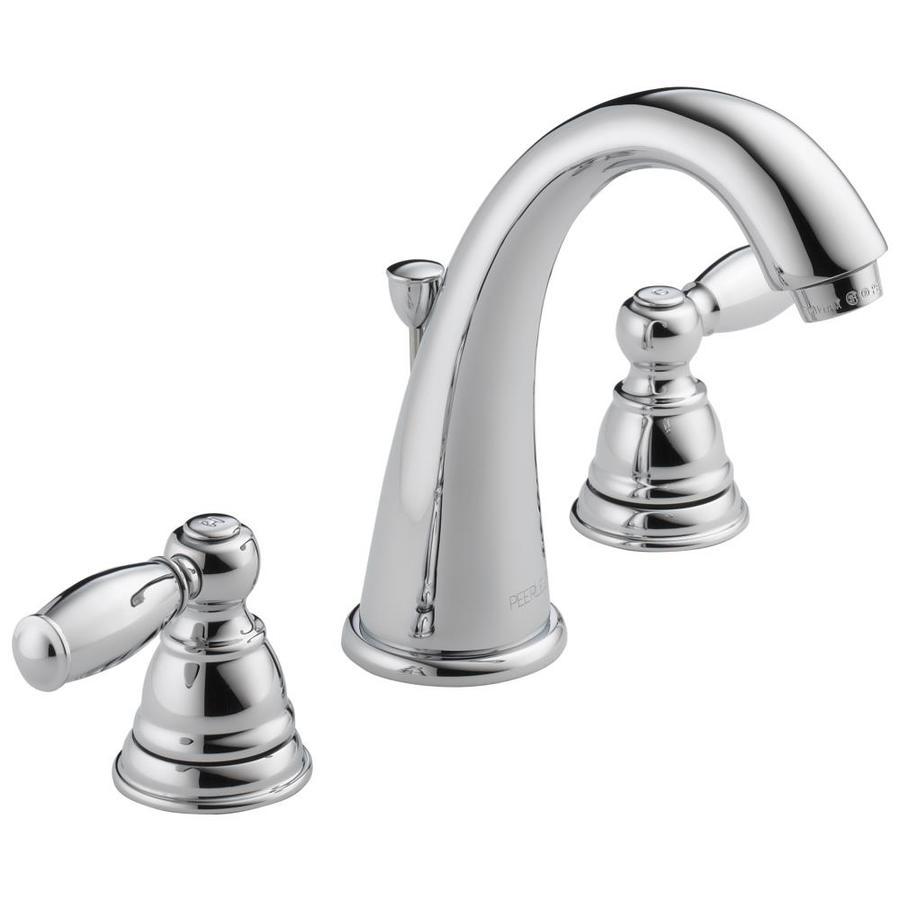 Peerless Apex Chrome 2-Handle Widespread WaterSense Bathroom Faucet (Drain Included)