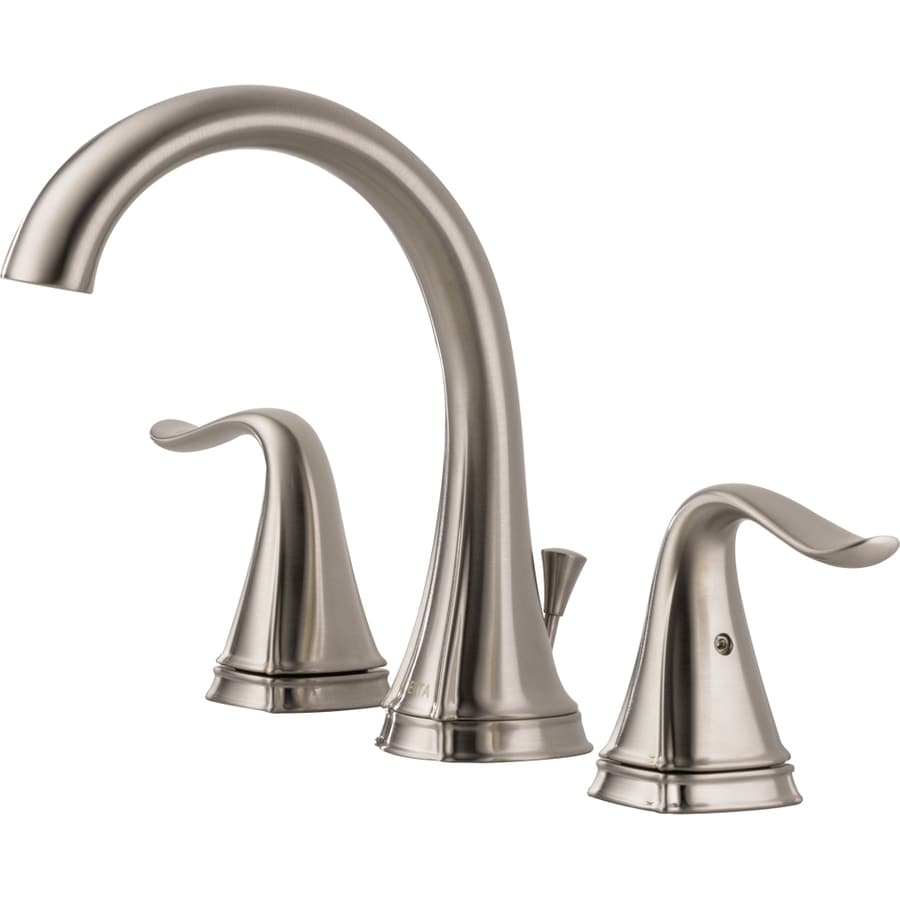 Delta Celice Stainless 2-Handle Widespread WaterSense Bathroom Faucet (Drain Included)