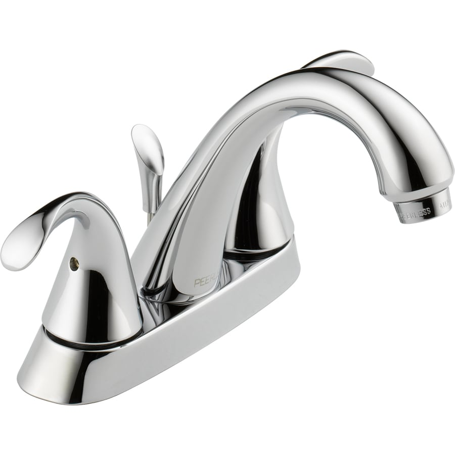 Peerless Transitional Chrome 2-Handle 4-in Centerset WaterSense Bathroom Faucet (Drain Included)