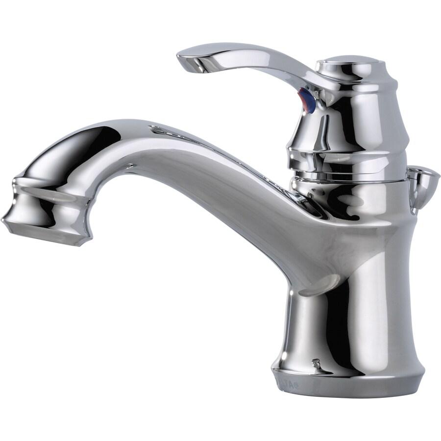 Delta Nura Chrome 1-Handle 4-in Centerset WaterSense Bathroom Faucet (Drain Included)