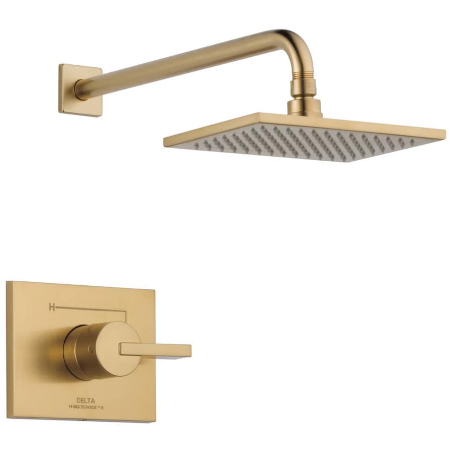 Shop Delta Vero Champagne Bronze 1 Handle Shower Faucet With Rain Showerhead At
