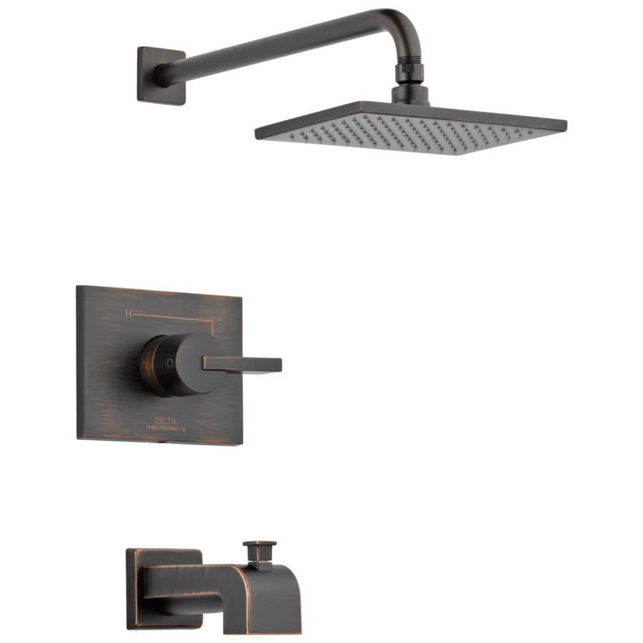 delta vero venetian bronze 1 handle bathtub and shower faucet trim kit