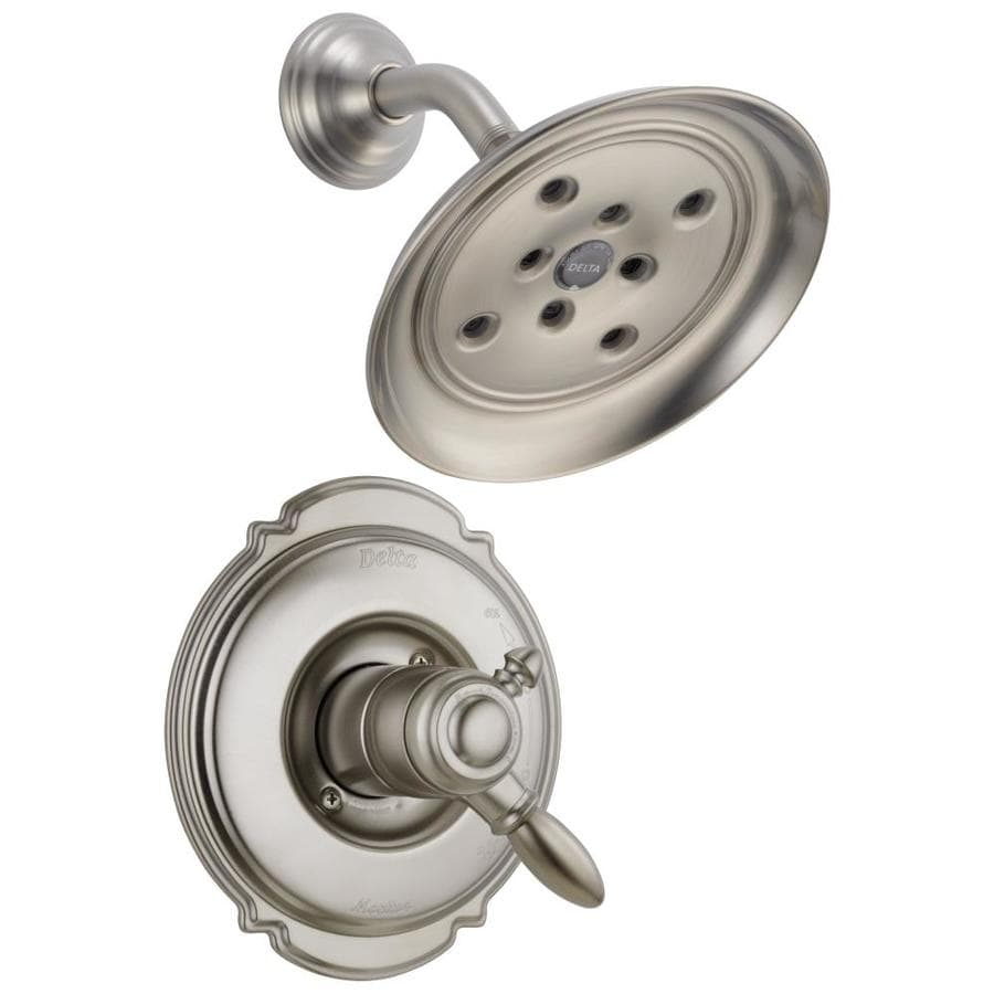 Delta Victorian Stainless 1-Handle WaterSense Shower Faucet Trim Kit with Rain Showerhead
