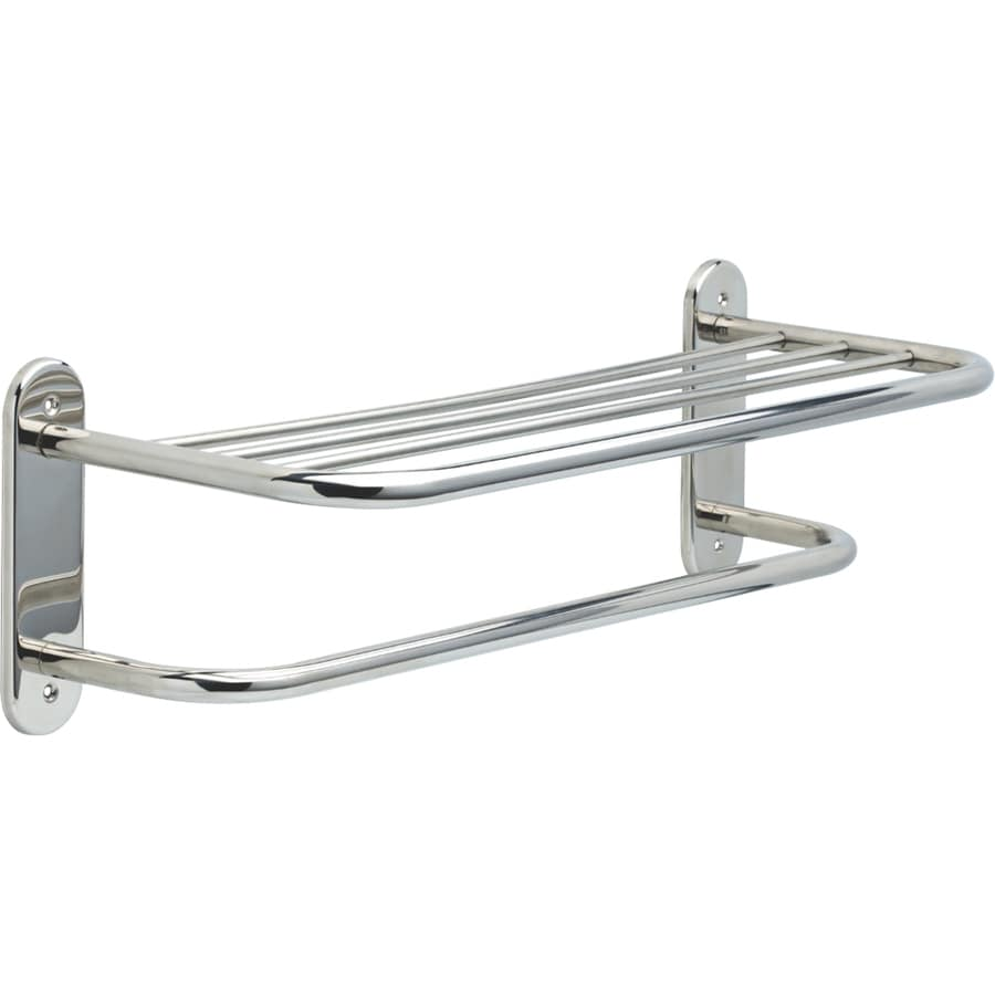Delta Bright Stainless Steel Single Towel Bar (Common: 24-in; Actual: 26.125-in)