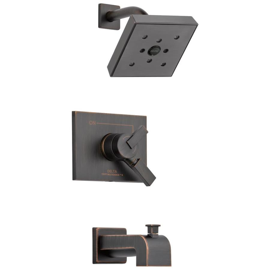 Delta Vero Venetian Bronze 1-Handle WaterSense Bathtub and Shower Faucet Trim Kit with Single Function Showerhead