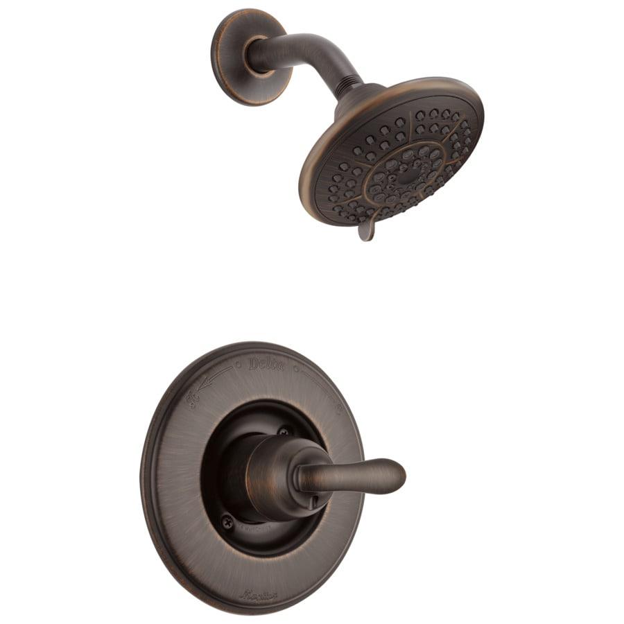 Delta Linden Venetian Bronze 1-Handle Shower Faucet Trim Kit with Single Function Showerhead
