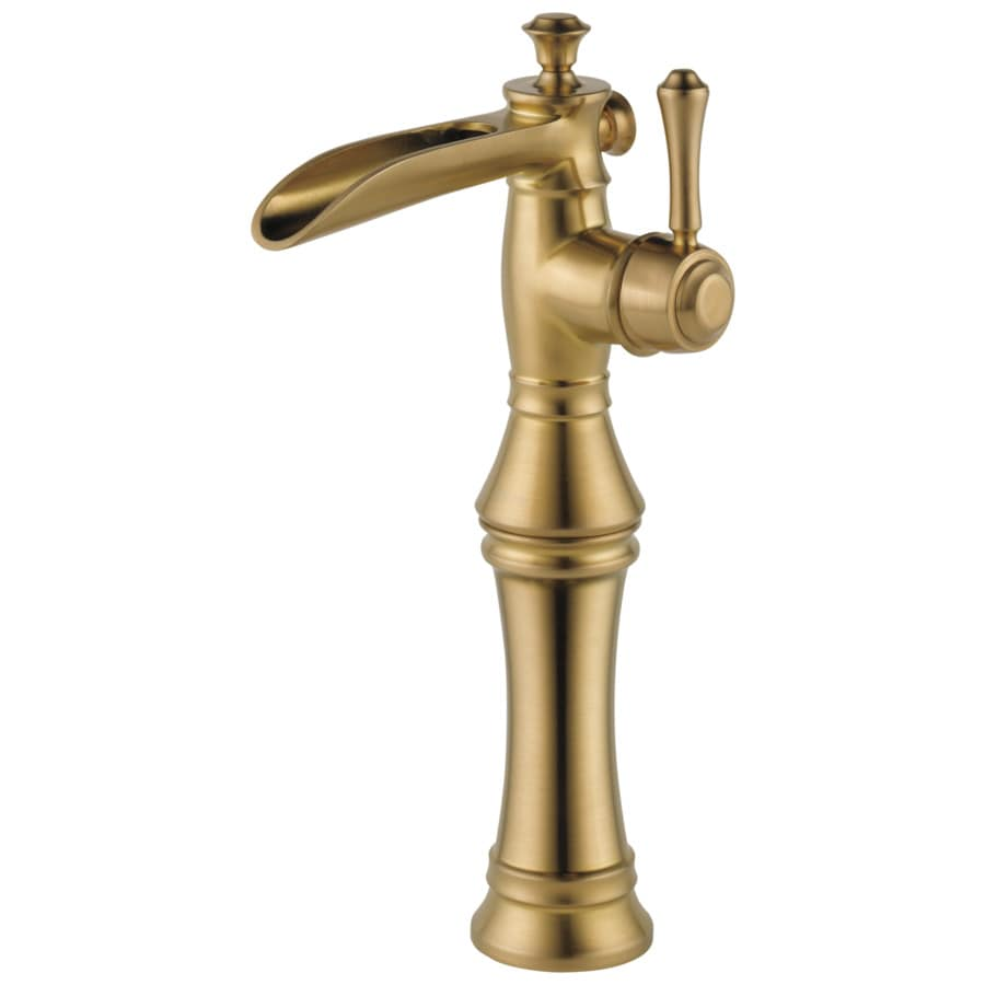 Delta Cassidy Champagne Bronze 1-Handle Single Hole WaterSense Bathroom Faucet