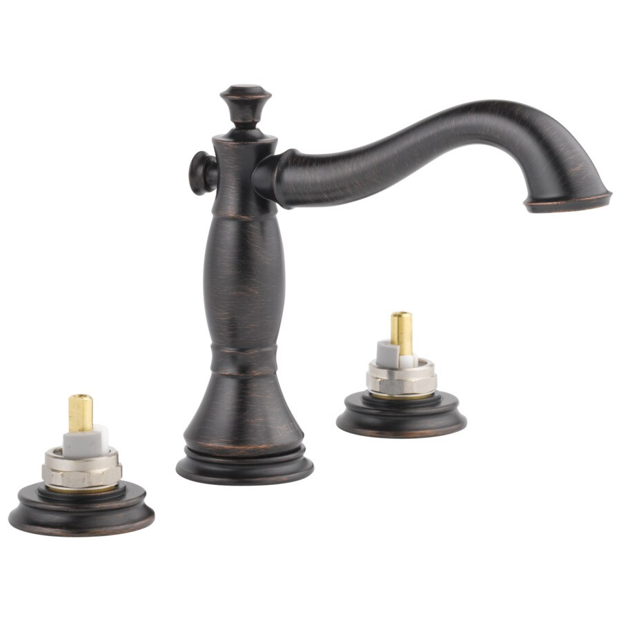 Shop Delta Cassidy Venetian Bronze 2 Handle Widespread Watersense Bathroom Faucet Drain