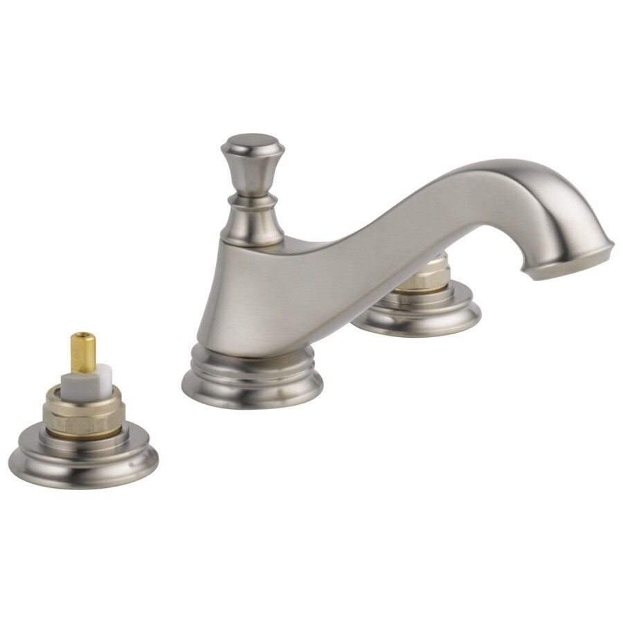 Shop Delta Cassidy Stainless 2-Handle Widespread WaterSense Bathroom Faucet (Drain Included) At