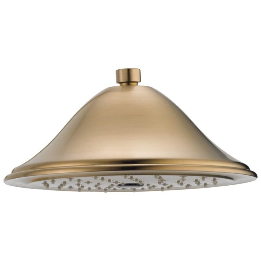 Delta Cassidy 9.375-in 2.5-GPM (9.5-LPM) Champagne Bronze 1-Spray Rain Showerhead