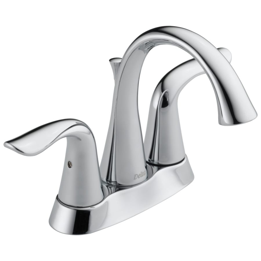 Shop delta lahara chrome 2 handle 4 in centerset for Llaves modernas para lavamanos