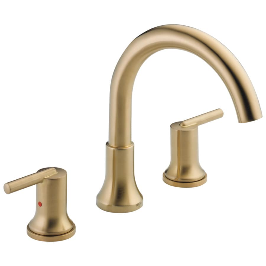 Delta Trinsic Champagne Bronze 2-Handle Adjustable Deck Mount Bathtub Faucet