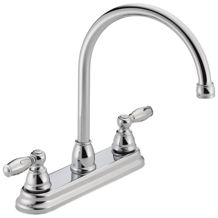 Peerless Apex Chrome 2-Handle High-Arc Kitchen Faucet
