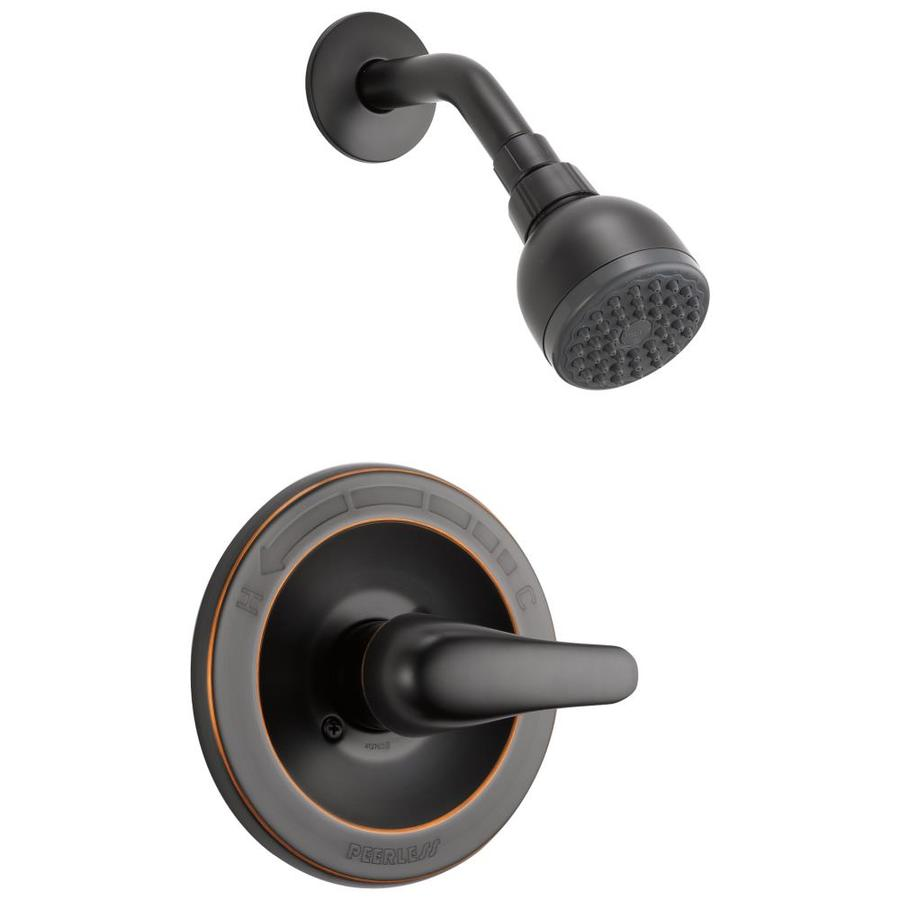 Peerless Oil-Rubbed Bronze 1-Handle WaterSense Shower Faucet Trim Kit with Single Function Showerhead