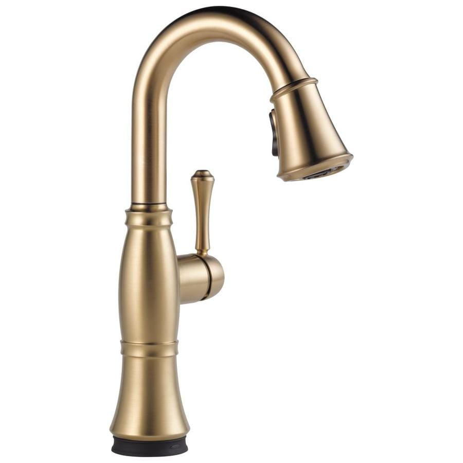 Delta Cassidy Touch Champagne Bronze 1-Handle Bar and Prep Faucet