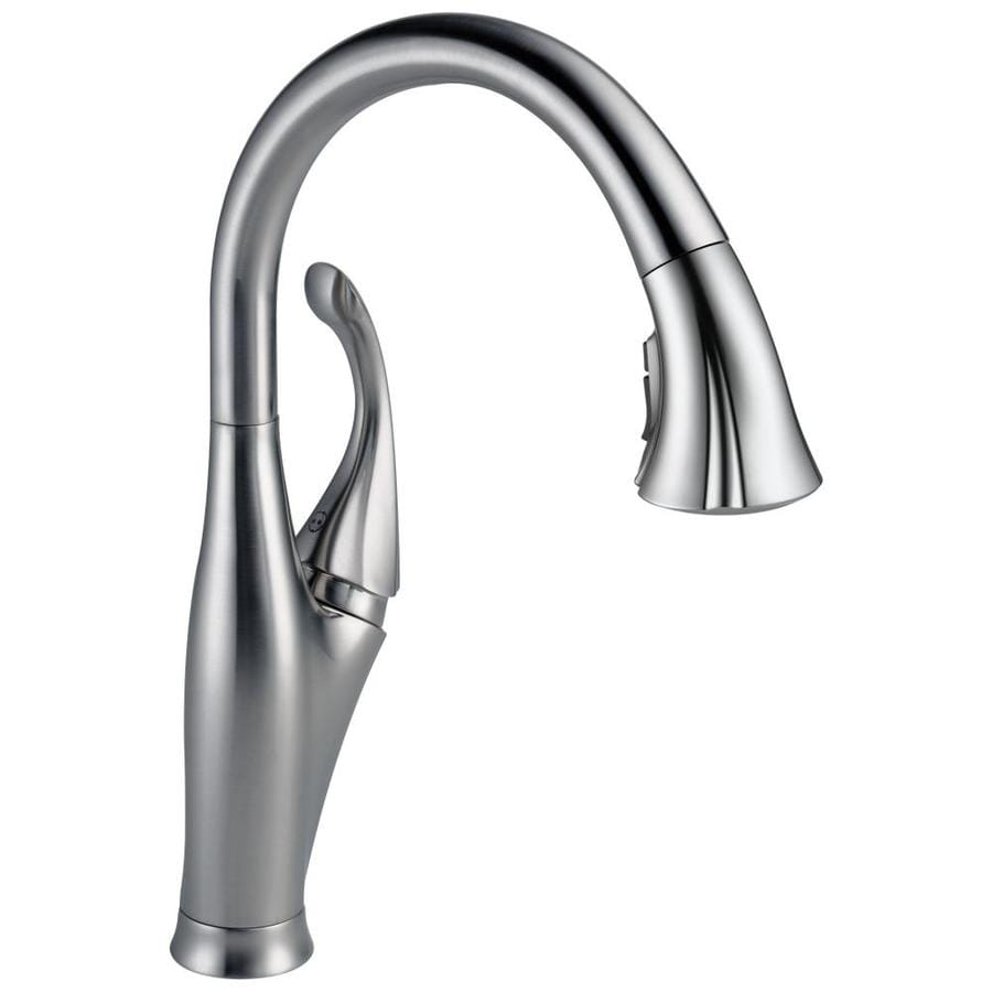 Shop Delta Addison Arctic Stainless 1 Handle Pull Down Kitchen Faucet At