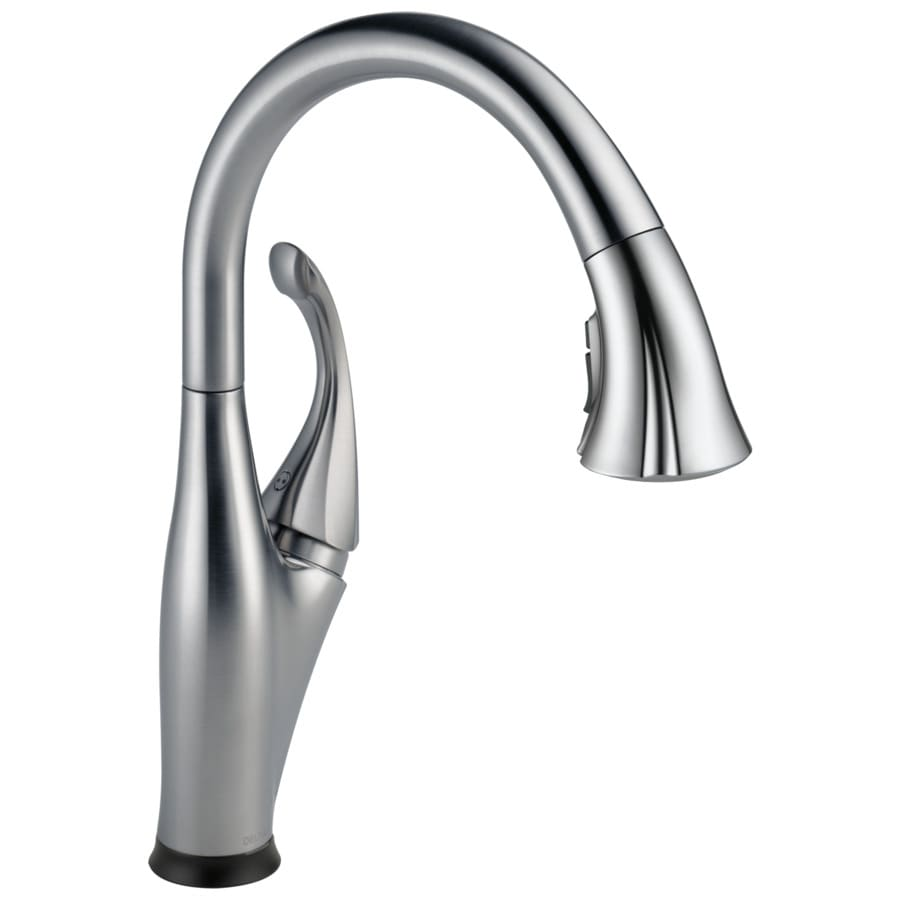 Touch Faucet Kitchen: Shop Delta Addison Touch2O Arctic Stainless 1-Handle Pull