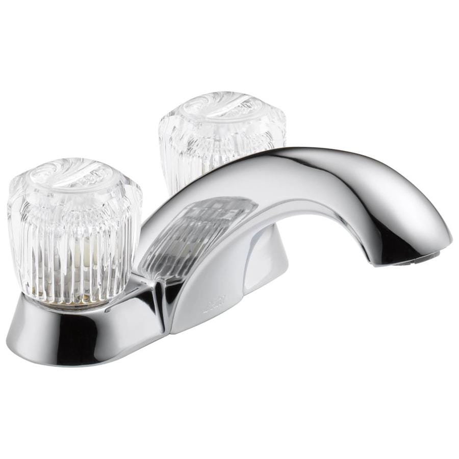 Delta Chrome 2-Handle 4-in Centerset WaterSense Bathroom Faucet