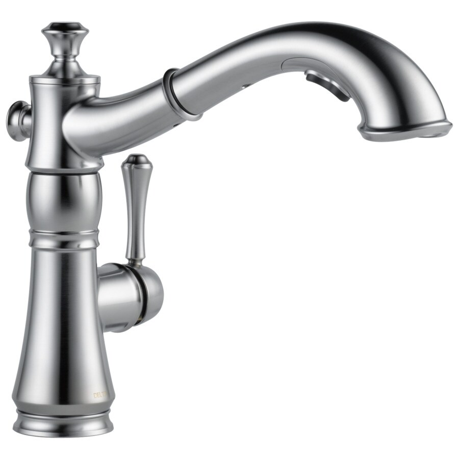 Delta Cassidy Arctic Stainless 1-Handle Pull-Out Kitchen Faucet