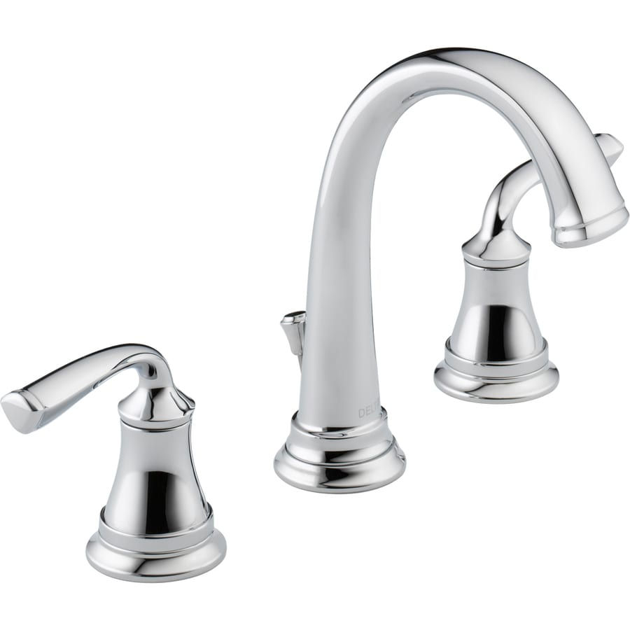 Delta Lorain Chrome 2-Handle Widespread WaterSense Bathroom Faucet (Drain Included)