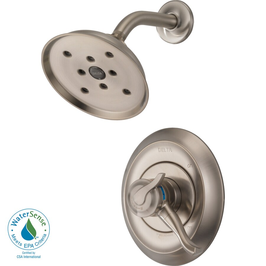 Delta Stainless 1-Handle WaterSense Shower Faucet Trim Kit with Single Function Showerhead