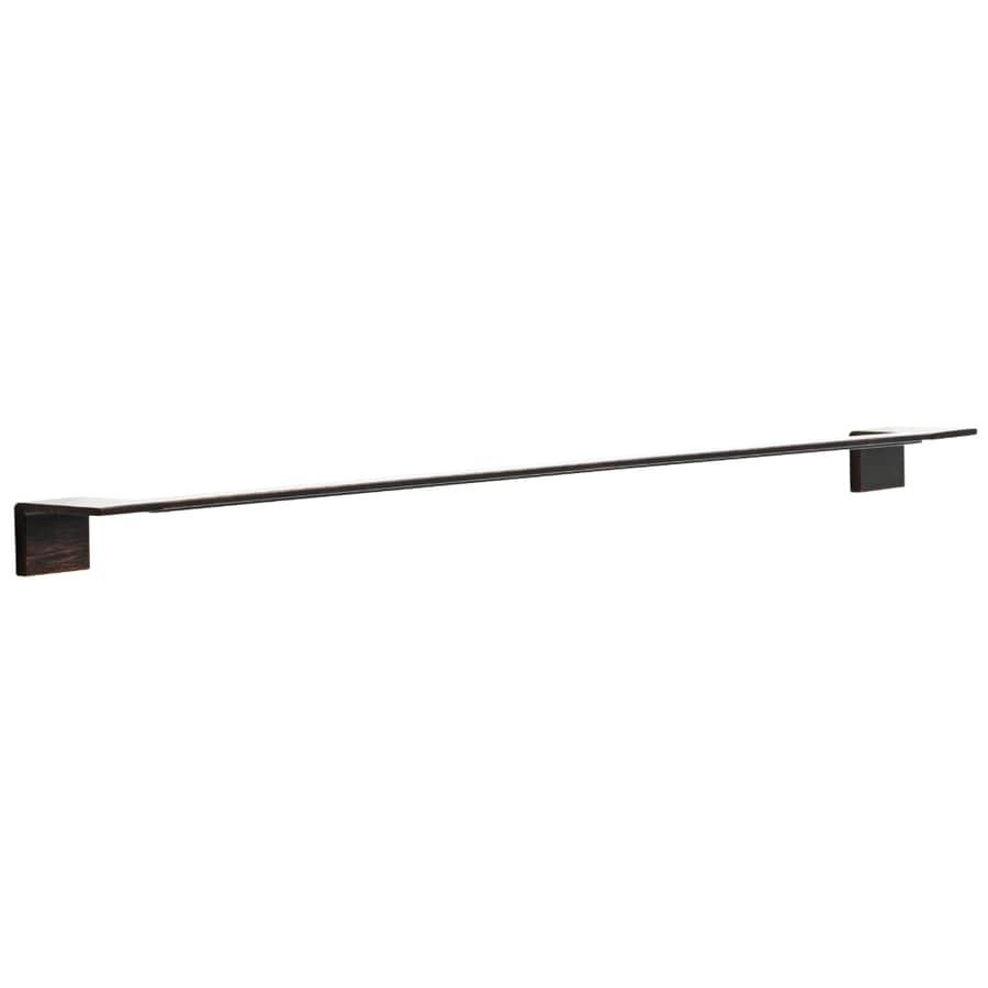 Delta Vero Venetian Bronze Single Towel Bar (Common: 30-in; Actual: 26-in)